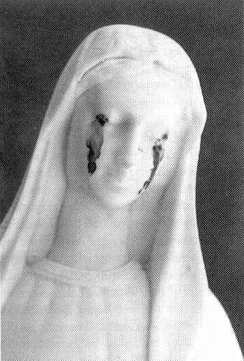 Photograph of the Statue of Weeping Madonna